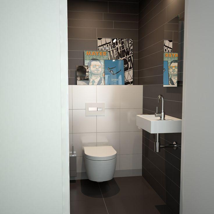 Clou - Flush 2 fontein in concept toiletruimte. Deze toiletruimte is voorzien van een First hangtoilet en Quadria wandgemonteerde toiletgarnituur.