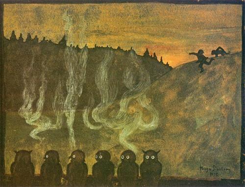 Hugo Simberg, Waiting for Dawn, 1895