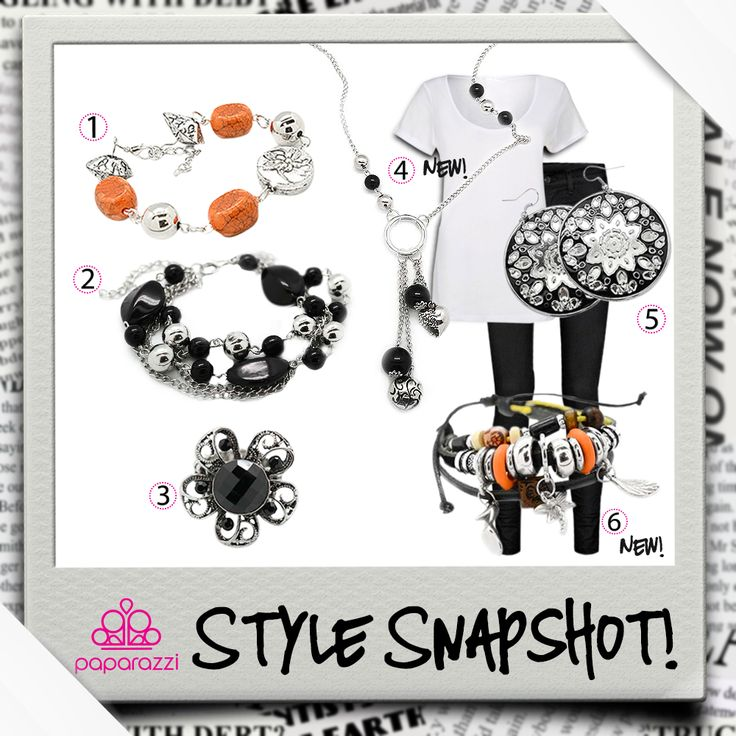 { Style Snapshot } A little shy about adding a bold color to your palette? Try starting with a classic black and white foundation and adding a little hint of color with your accessories!