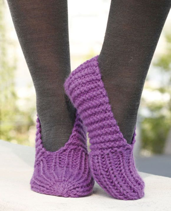 Hand Knitted slippers with cables made to order by VaniasCreations on Etsy