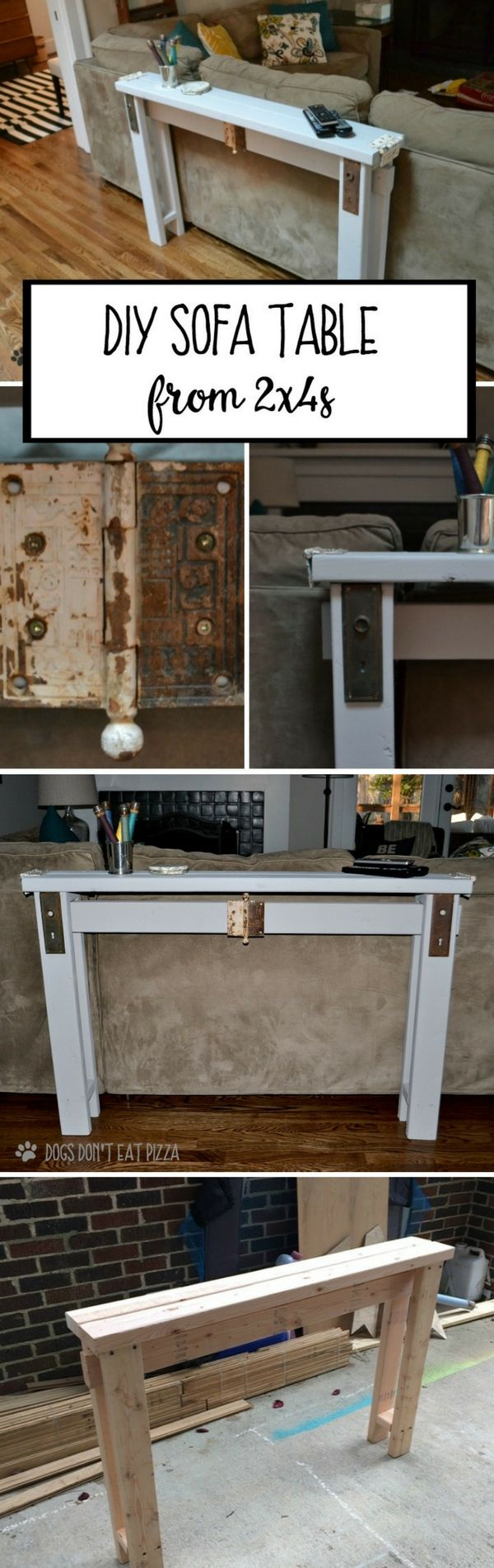 Check out how to make a DIY wooden sofa table from 2x4s @istandarddesign