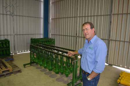 Shane Kelly of Kelly Engineering. 40 years ago his father didn't like the farm equipment he had so built his own. Word got out and after they sold 30 they figured out they had a viable business. Today they export to the world