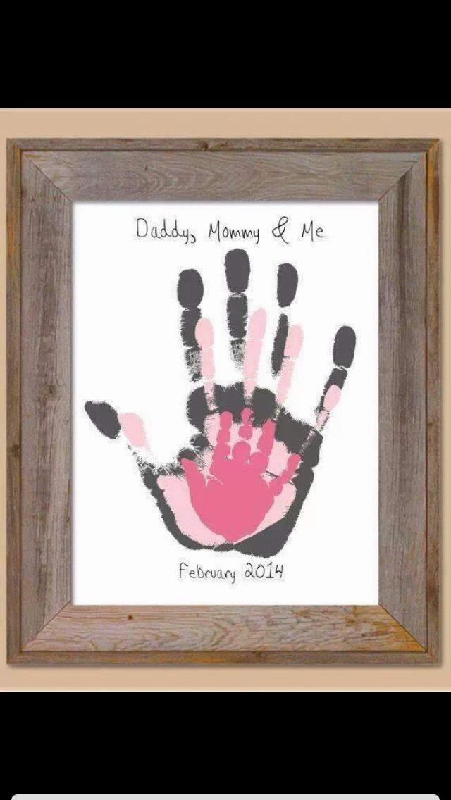 Family handprints *Fun, but hard with newborn lol.