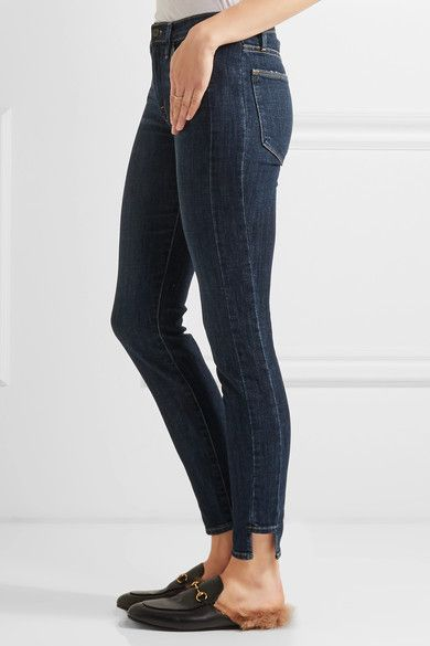 FRAME - Le High Skinny Jeans - Dark denim -