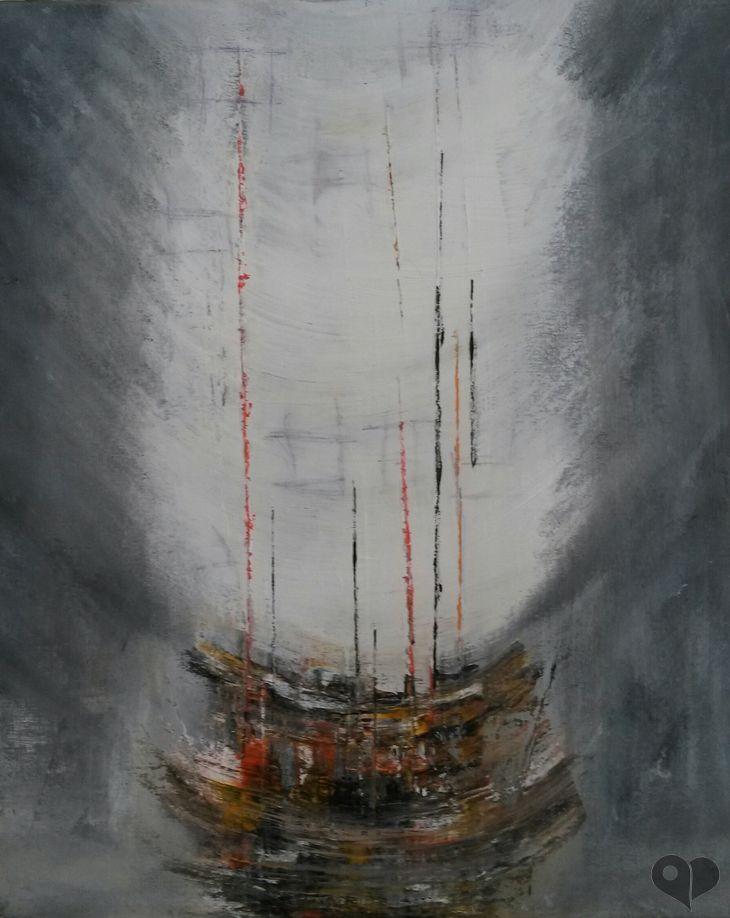 Art Lover Place - Le vaisseau fantôme (Peinture) par Giorgio Storchi