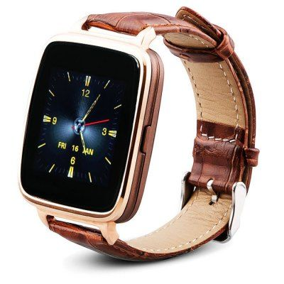 Wholesale OUKITEL A28 MTK2502 Bluetooth 4.0 Smart Watch with Heart Rate Monitor Genuine Leather Strap iOS Android (GOLDEN)   Everbuying