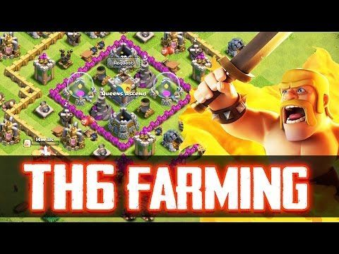 nice Clash Of Clans | BEST TOWN HALL 6 FARMING/TROLL BASE! |