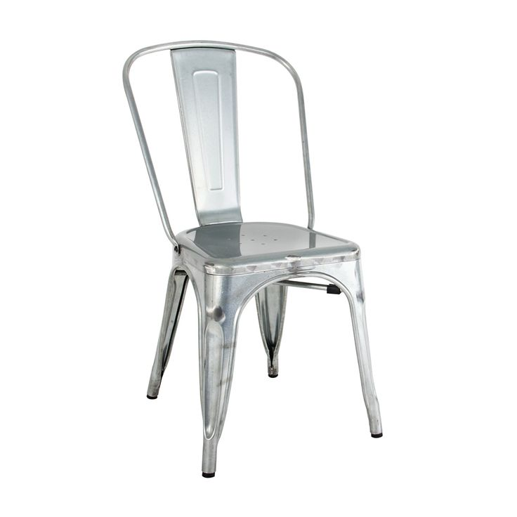 Tolix chair in galvanised Suitable for indoor and outdoor Gloss galvanised finish