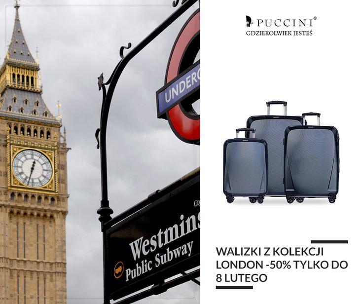 Jeszcze tylko dziś walizki LONDON o 50% taniej. Sprawdź!