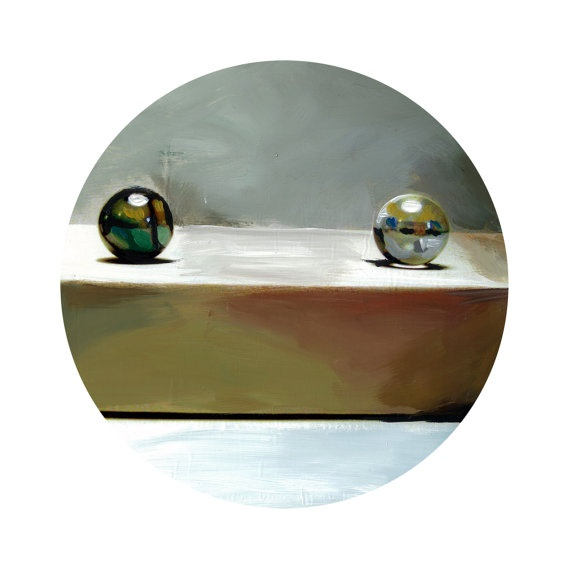 Round Print Marbles C from original painting 10x10 by vankale, $15.00: Paintings 10X10, Originals Paintings