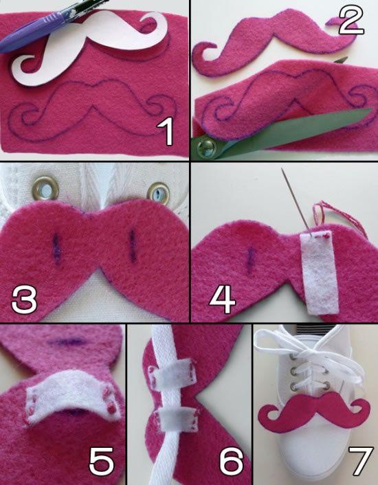 Zapatillas con bigotes de fieltro 1