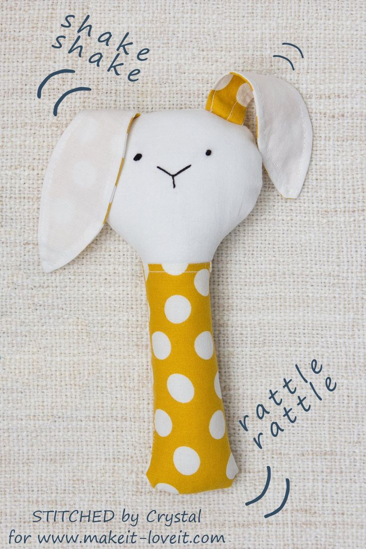 Sew a Plush Rattle for Baby (...a bunny, cat, & mouse)! | Make It and Love It