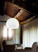 Lampadario artigianale a sospensione in vetro art. AB-0064