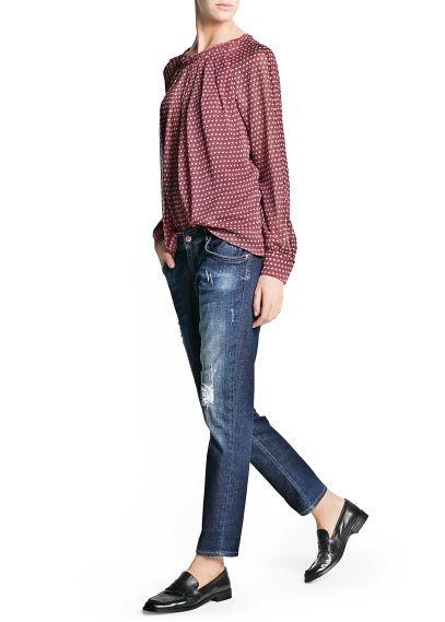 Floral print chiffon blouse