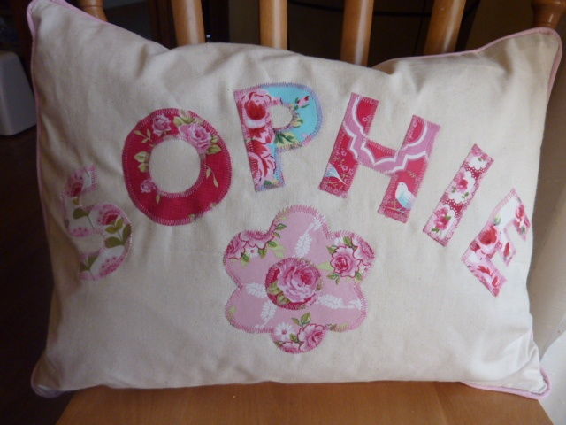Personalised pillow - front