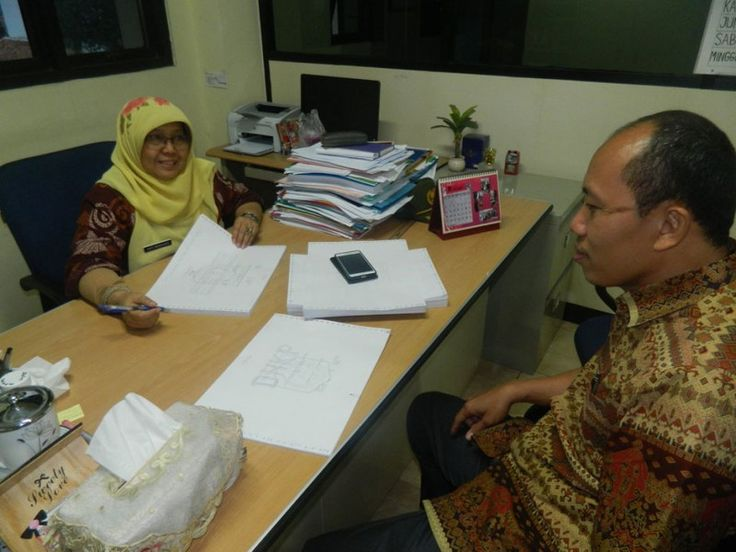 Kepala UPPD Senen berdiskusi tentang persiapan penyampaian SPPT PBB P2 2016