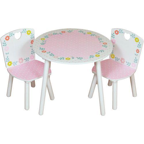 Gefunden bei Wayfair.de - 3-tlg. rundes Kinder Tisch und Stuhl-Set