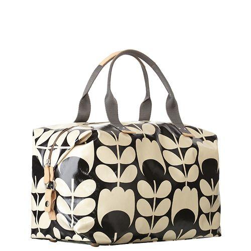 Bag of the Week Tulip Stem Weekend Bag http://www.orlakiely.com/uk.cfm/bags/resort/14RETUS132/27372/Black%20&%20Cream/