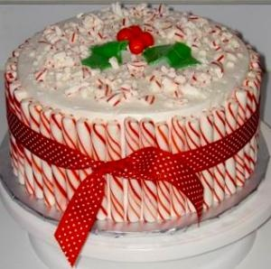 Peppermint Drum Cake | BigOvenPeppermint Drums, Christmas Goodies, Drums Cake, Christmas Bakeries, Bakeries Shops, Eating Cake, Christmas Ideas