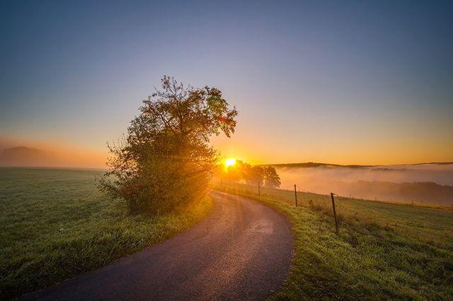 Fotostrecken - Wetter Bilder und Fotos - WetterOnline Die letzten Septembertage verlaufen dann wieder sehr ruhig. Die aufgehende Sonne hüllt die Landschaft und den Nebel im Westerwald in ein pastellfarbenes Licht. Bild: Johannes Willwacher