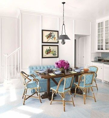 Great Cafe Chairs: Bright Kitchens, Cafe Chairs, Markham Robert, French Cafe, Dining Spaces, Breakfast Area, House, Bistros Chairs Dining Rooms, Decor Blog