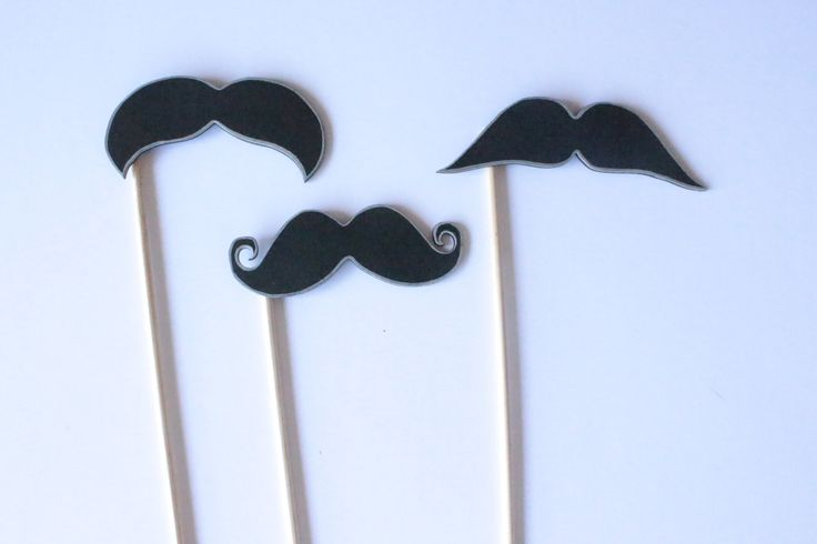 Set of 3 Wooden Mustaches Photo booth props