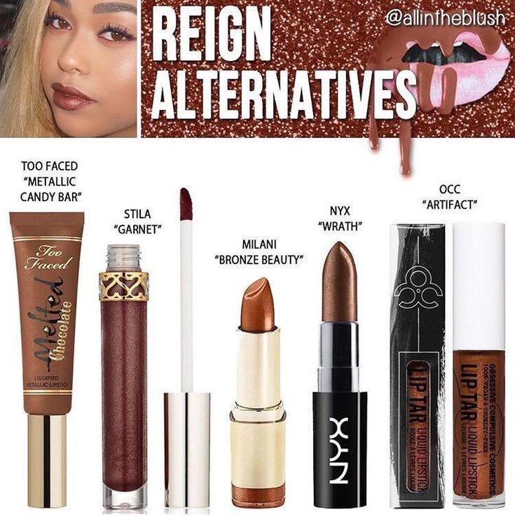 Kylie Jenner metallic liquid lipstick dupe