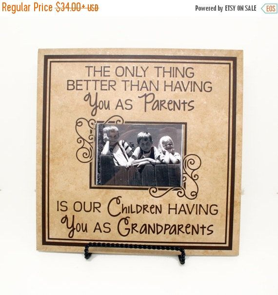 HOLIDAY SALE - The only thing better than having you as parents is my children having you as grandparents Sign - New grandparents gift, Gran