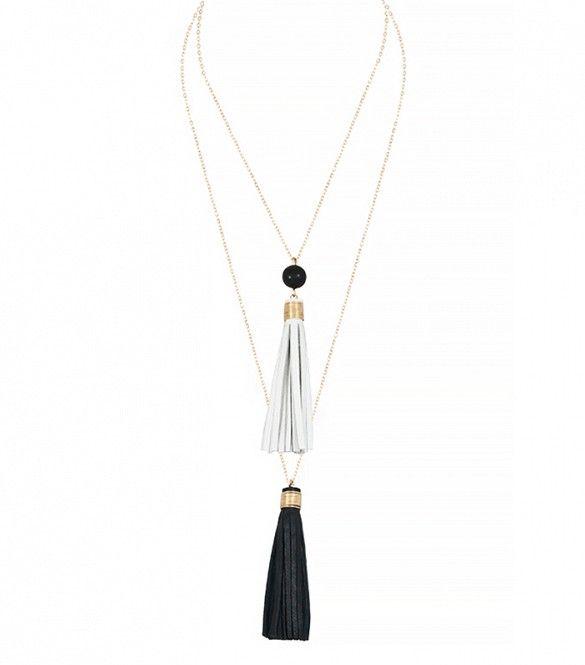 Faire Collection Dual Tassel Necklace
