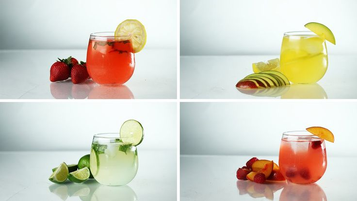 Spiked Lemonade with Vodka 4 Ways - YouTube