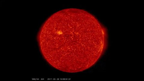 Gigantic Solar Filament Eruption May Be Earth-Directed  AN EXPLOSION ON THE S...
