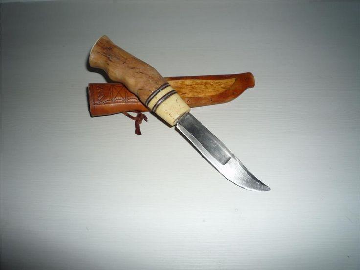 Handgjord kniv i masurbjörk på Tradera.com - Jaktknivar och jaktverktyg