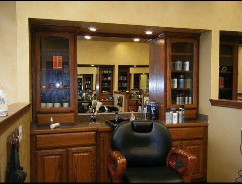 SWEET barber station  BarberShop  Barber shop decor Barber shop Barbershop design