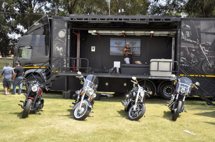 The #Harley Davidson mobile stage will rock at the #RandfonteinShow!