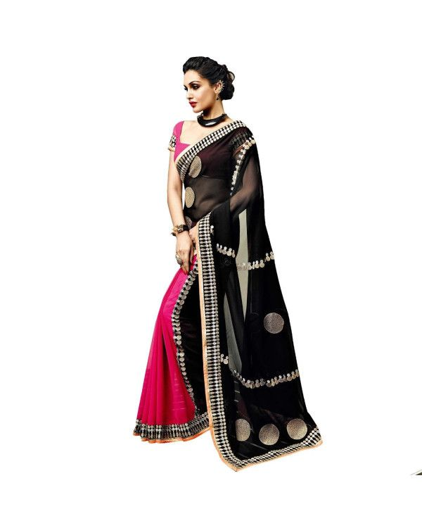 Black Resham Embroidery Saree To know more or buy, please click Below:- http://www.ethnicstation.com/black-resham-embroidery-saree-vl1765                  #EthnicWear‎