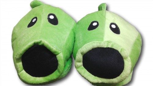 """8.99$  Watch now - http://vitao.justgood.pw/vig/item.php?t=odovid221579 - Plants and Zombies Cosplay Adult Plush Rave Shoes Slippers 11"""""""