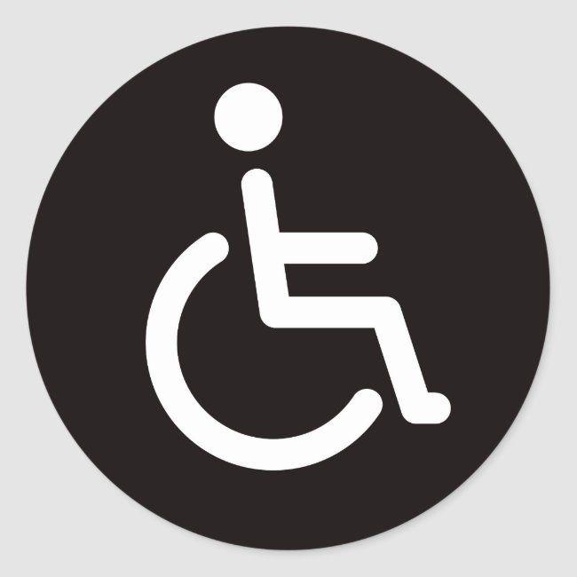 Disabled Symbol Classic Round Sticker Zazzle Com Custom Parking Sign Symbols Custom Holiday Card