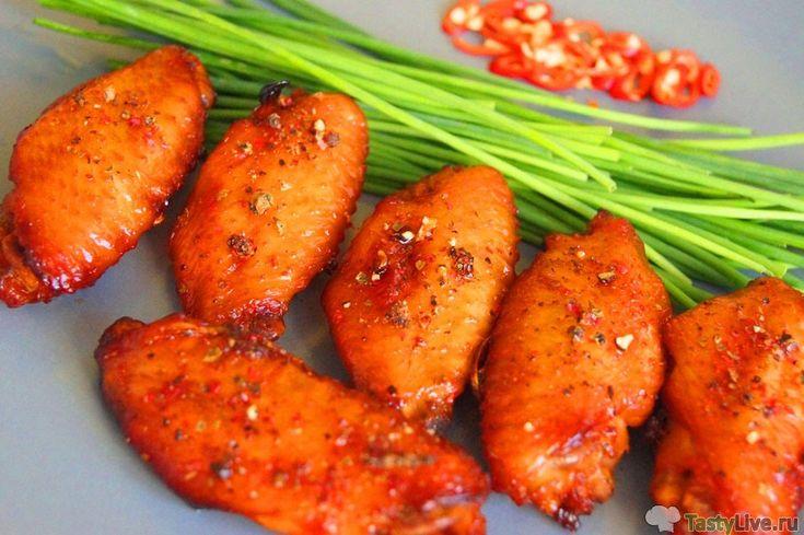 Куриные крылышки по тайски в духовке
