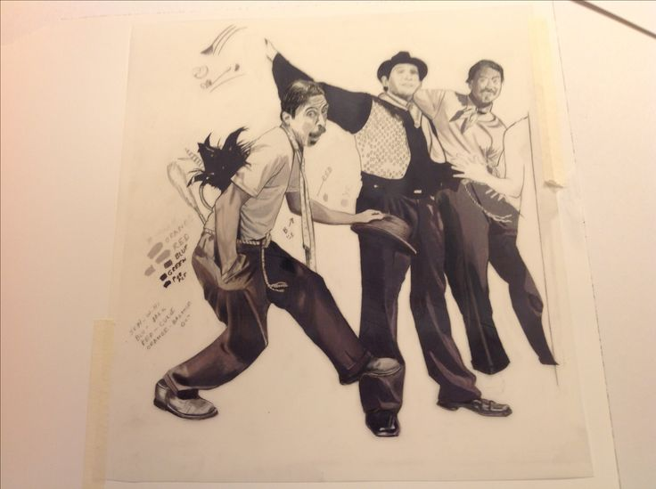 Carolyn Dee Flores - Photo of drawing (pencil) study for THE CIRCUS