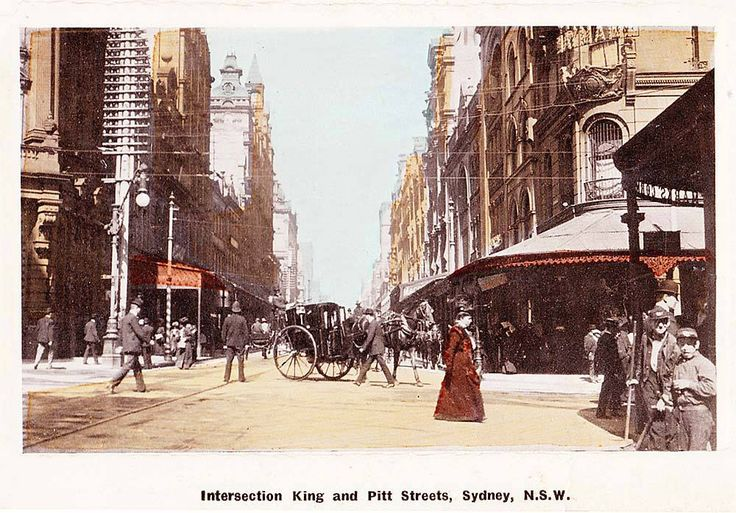 "Original Edwardian pooper scoopers ""Block Boys"" from the bottom RH corner of this postcard. Sydney"