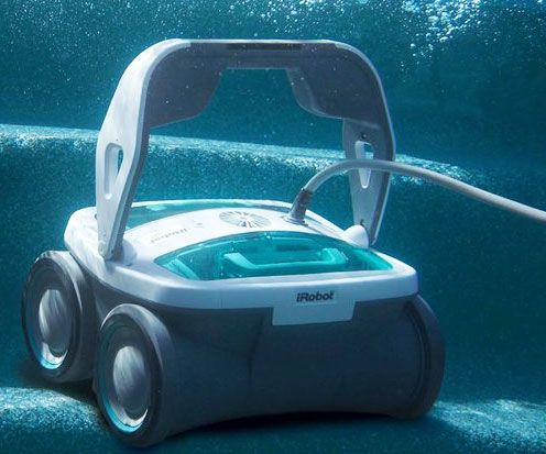 Keep your pool so clean you could drink from it when you put the robotic pool cleaner on the job. This busy body is always on the move; two powerful motors not only clean the floor and walls, but also simultaneously filter the water.