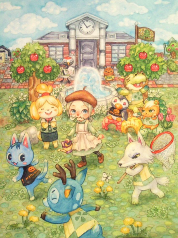 Acnl on tumblr animal crossing pinterest on for Animal crossing mural
