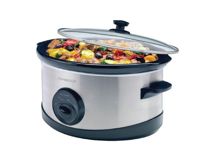 Kambrook Stainless Steel Slow Cooker 6L