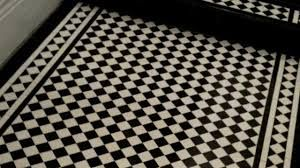 Image result for black and white tiled victorian hallway