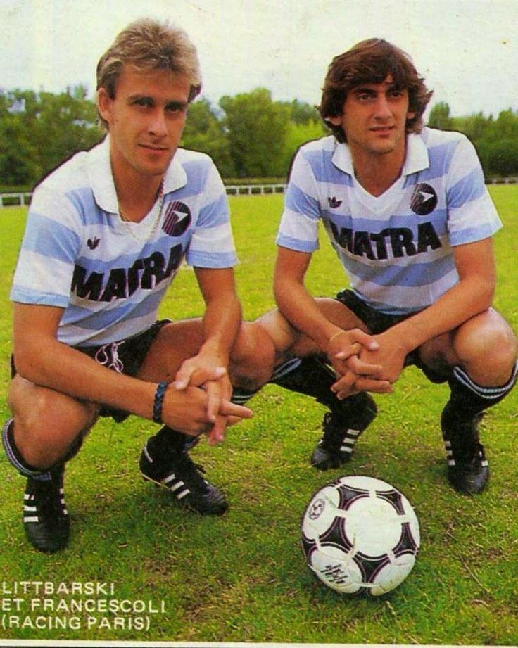 Pierre Littbarski & Enzo Francescoli en 1986 au Racing Club Paris.