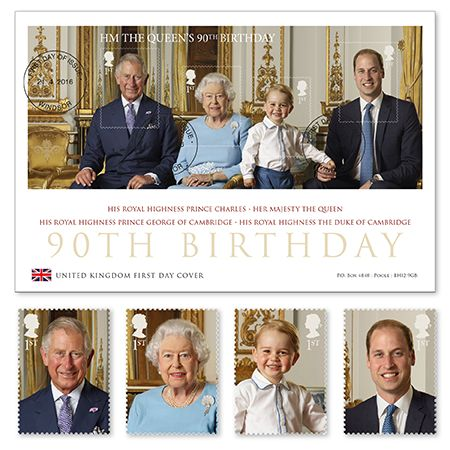 Queens 90th birthday Stamps