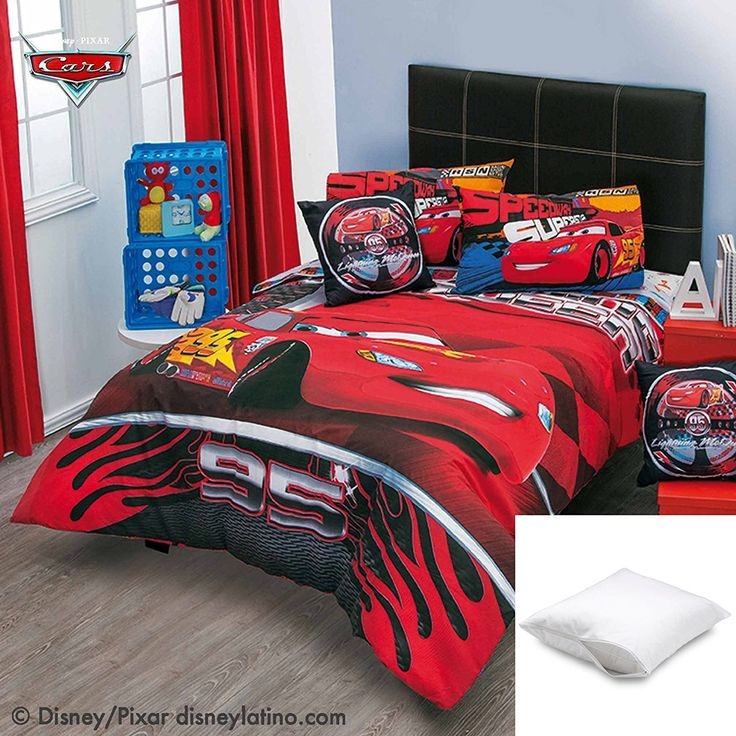 Disney-Pixar Cars Speed 5-Pc Comforter Set Twin Bundled with One Pillow Protector //Price: $132.81 & FREE Shipping //     #bedding