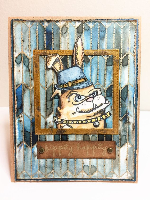 Tim Holtz Easter card featuring Crazy Dogs