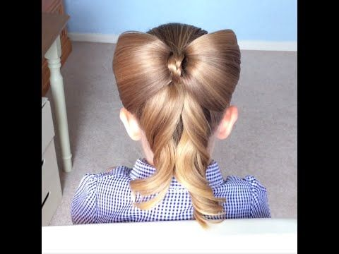 Pull Thru Hair Bow / Hairstyle / Hair Tutorial / HairGlamour - YouTube