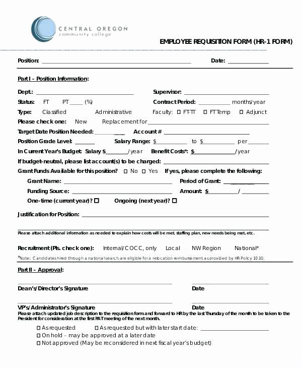 Job Requisition Form Template In 2020 With Images Letter